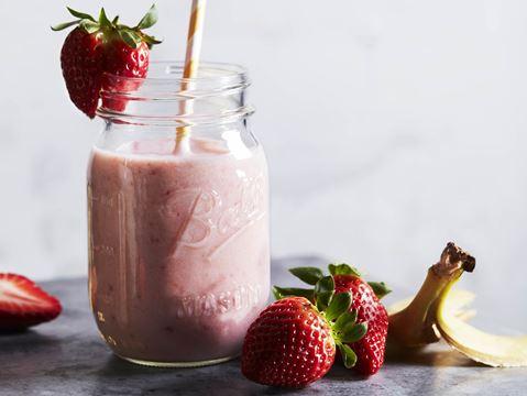 Jordbær- og banansmoothie