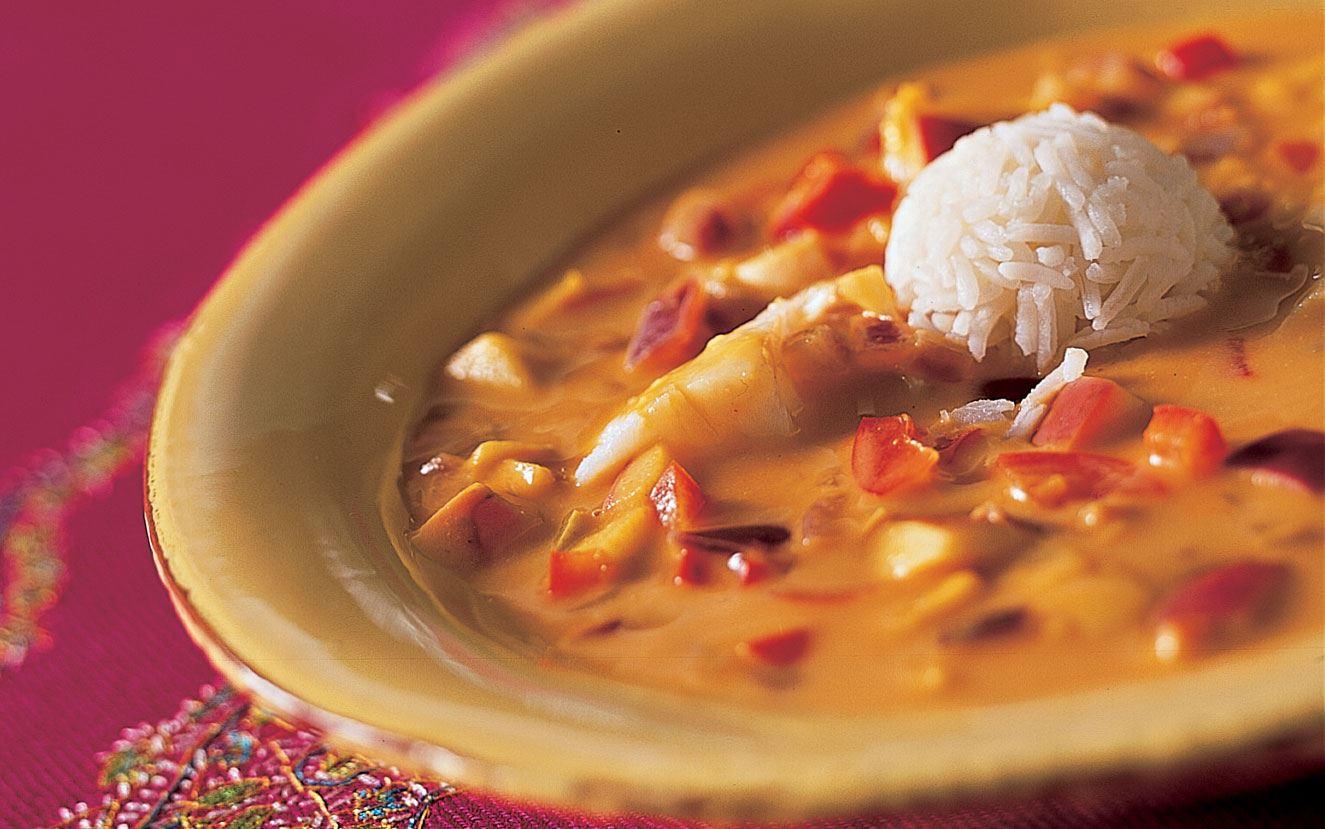 Mulligatawny suppe med kylling