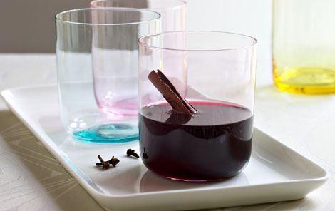 Varm krydret rødvin