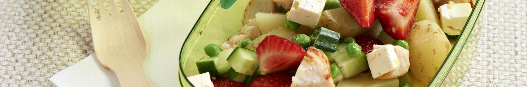 Fedtfattig + Jordbær + Madpakke