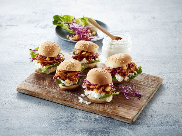 Sliders med pulled chicken