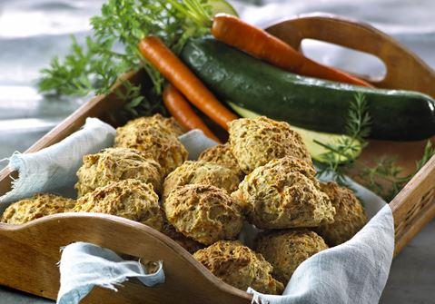 Boller med fuldkorn og grøntsager