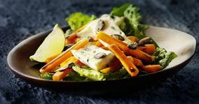 Marinerede gulerødder med græskarkerner