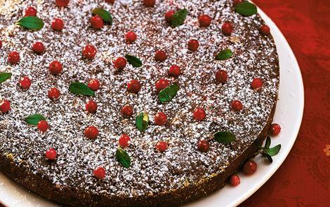 Julens chokoladekage