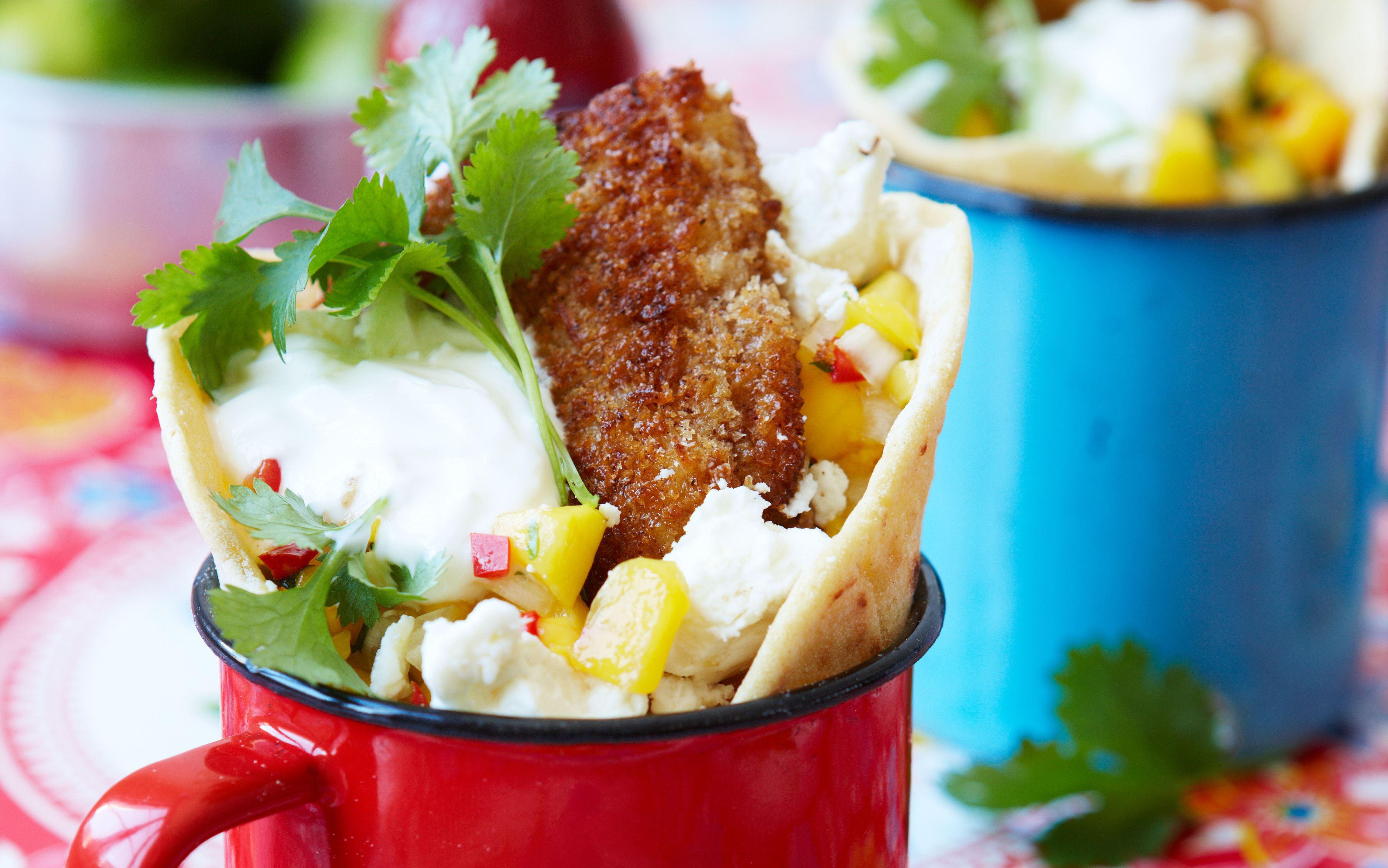 Tacos med stegt fisk