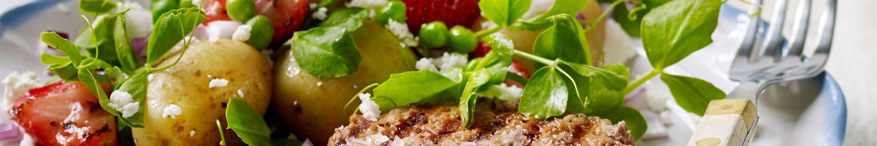Hurtig + Jordbær + Salater + Svin