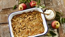 Æbletærte med mandellåg