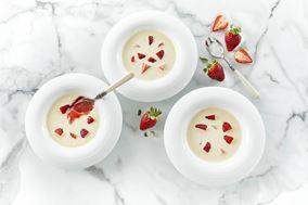 Fløde med jordbær
