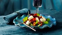 Rødbedesalat med ost og figenglace