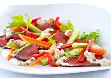 Kød og grønt med tunsauce