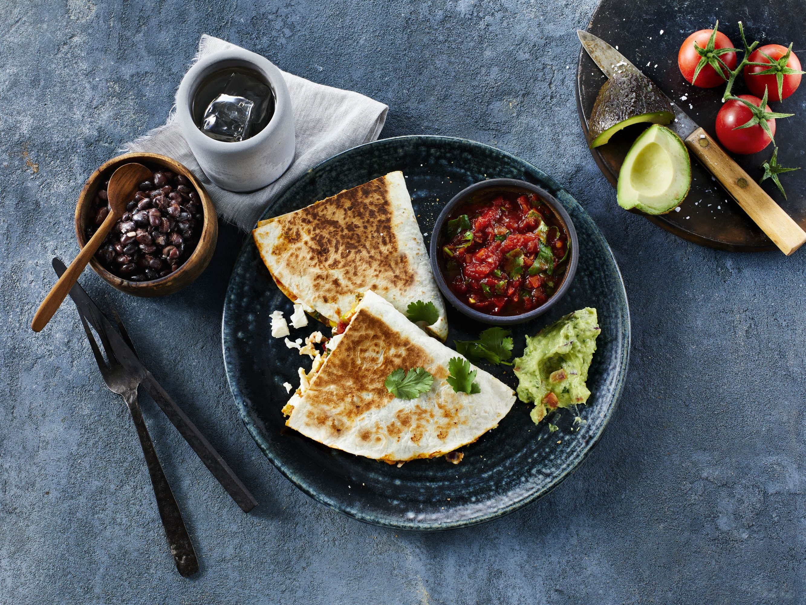 Quesadillas med queso fresco