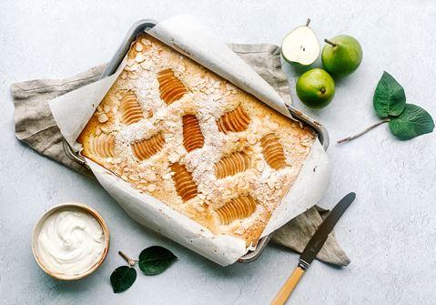 Pærekage med marcipan
