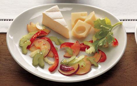 Salat med ingefær - til mild ost