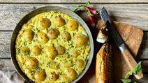 Kartoffelomelet med røget makrel