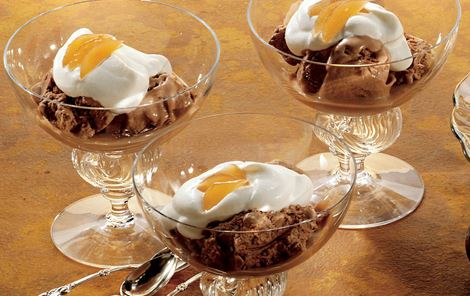 Chokoladeis med syltet ingefær
