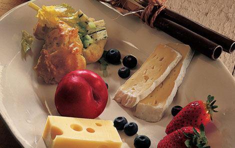 Ostetallerken med vandbakkelser