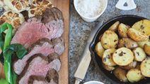 Chateaubriand og bagte hvidløg