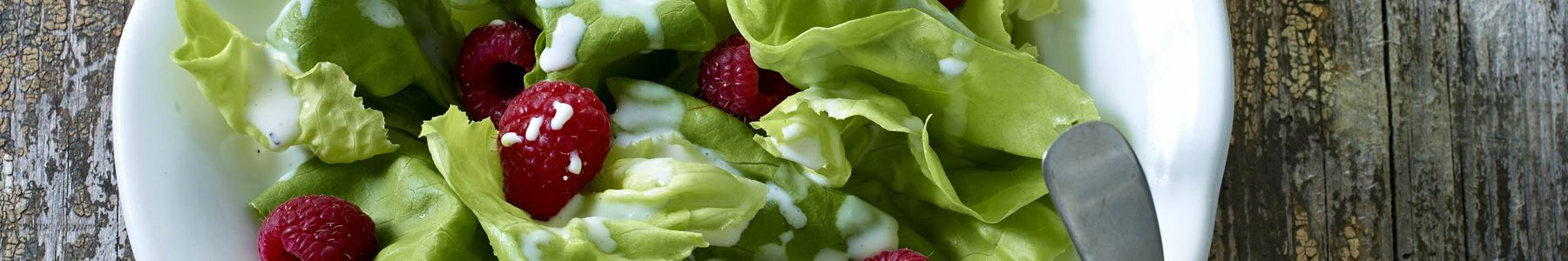 Hindbær + Dip og dressinger