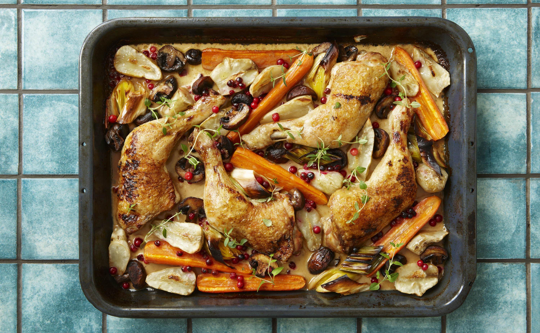 kyllingelår opskrift ovn