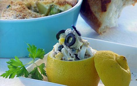 Tunfiskefyldte citroner