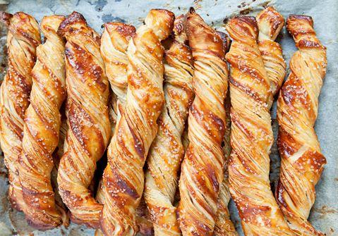 Sprøde brød med perlesukker