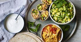 Tortillas med quick pulled chicken og mangosalsa