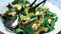 Grøn ostesalat med blåskimmelost