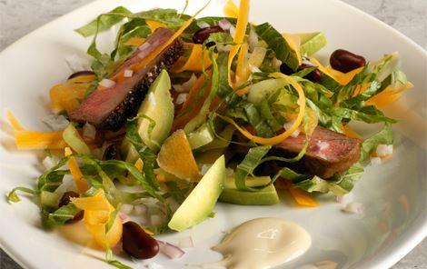 Salat med oksebøf og kidneybønner