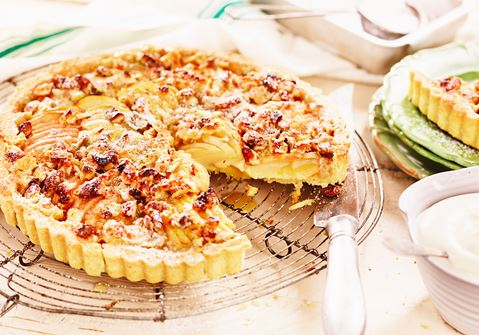 Toscatærte med æble