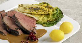 Dyrekølle og grillet hjertesalat