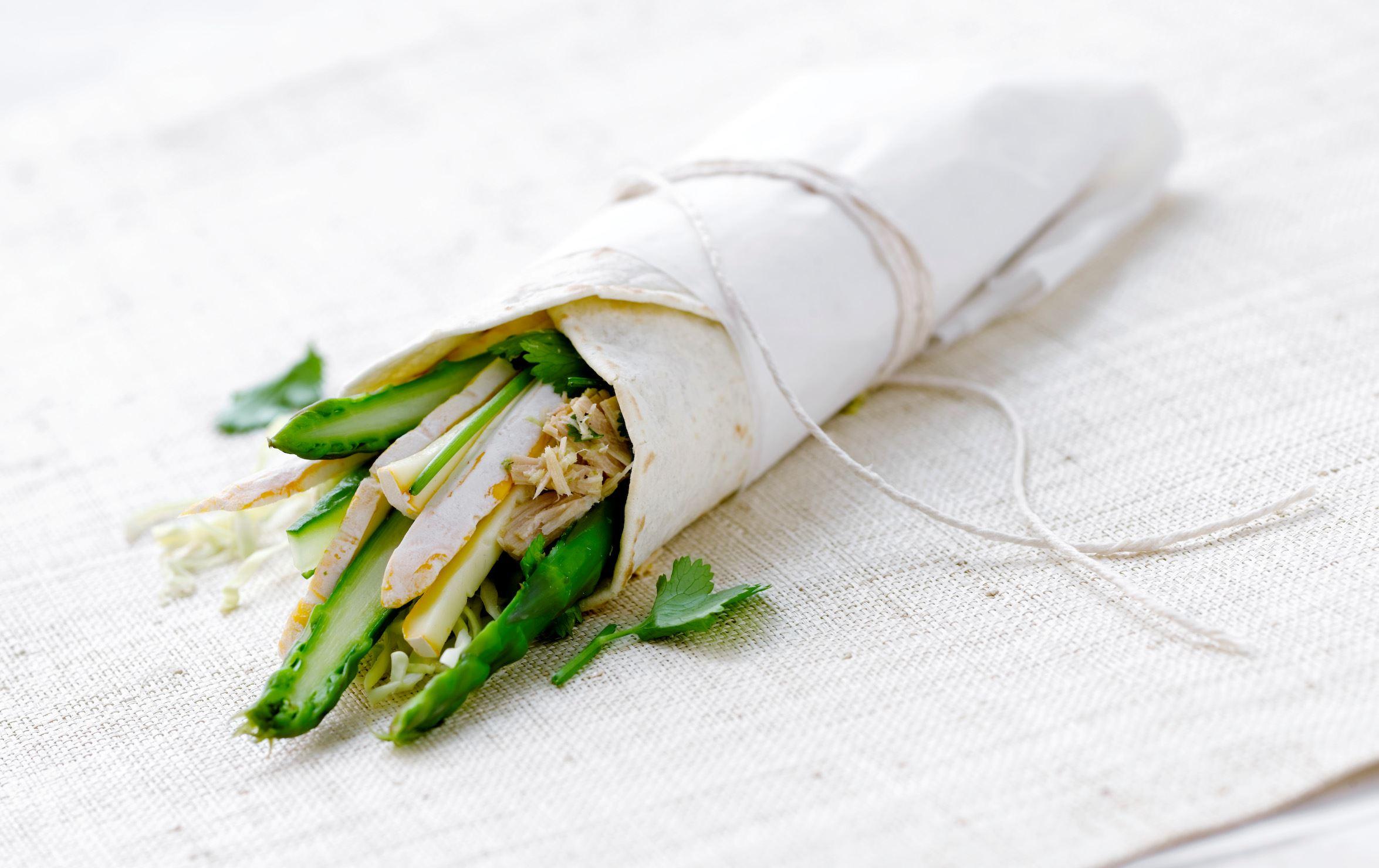 Wraps med ost og thaikrydret tun