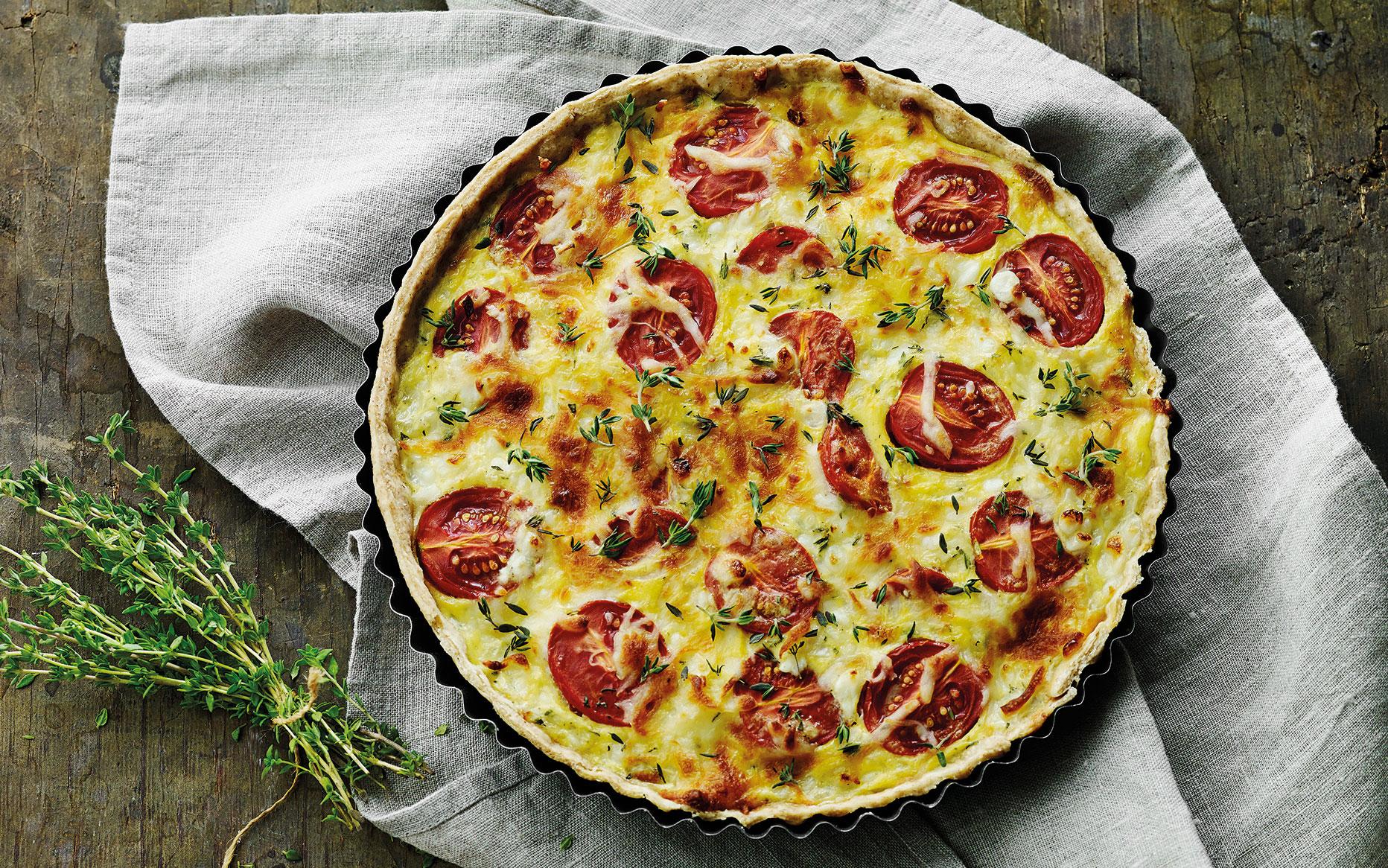 tomattærte med mozzarella