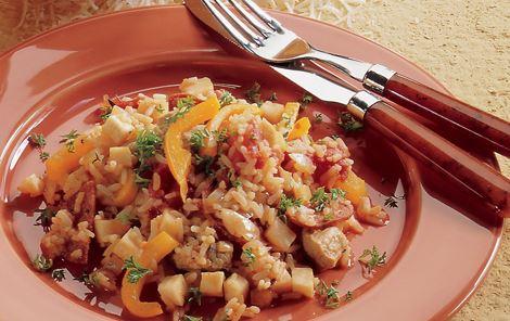 Risret med peperoni