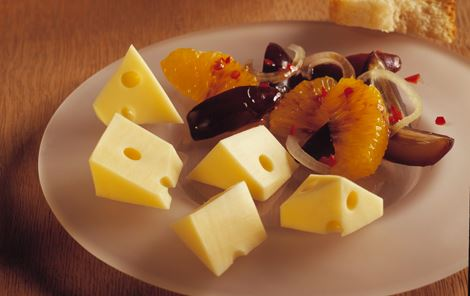 Dadelsalat til ost