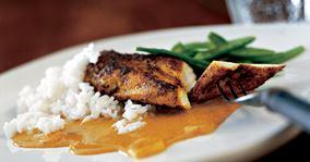 Karrysauce til kylling og basmatiris