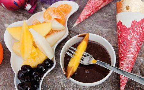 Krydret chokolade med frugt