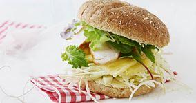 Sandwich med kylling og karry