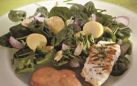 Grillet rødfisk med kartoffelsalat
