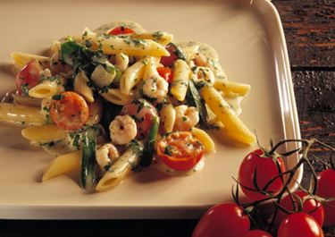 Sauce med rejer til pasta