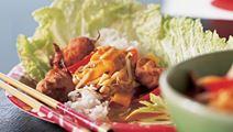 Kylling og sauce med bambusskud
