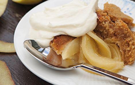 Æbletærte med knald i låget