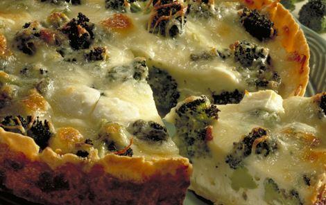 Lun tærte med ost og broccoli