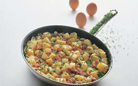 Omelet a la Stefan - Omelet med skinke