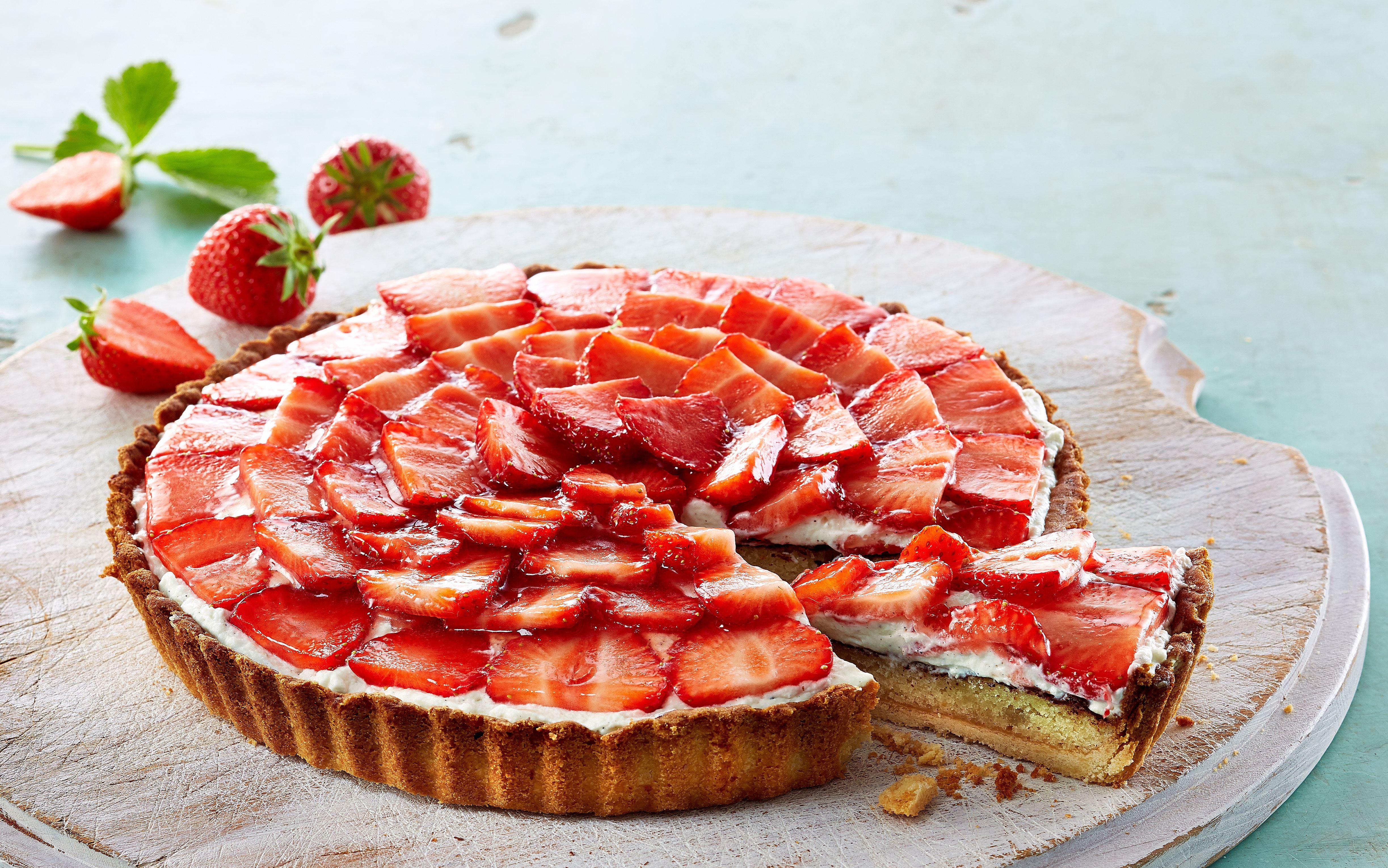 Jordbær-mazarintærte