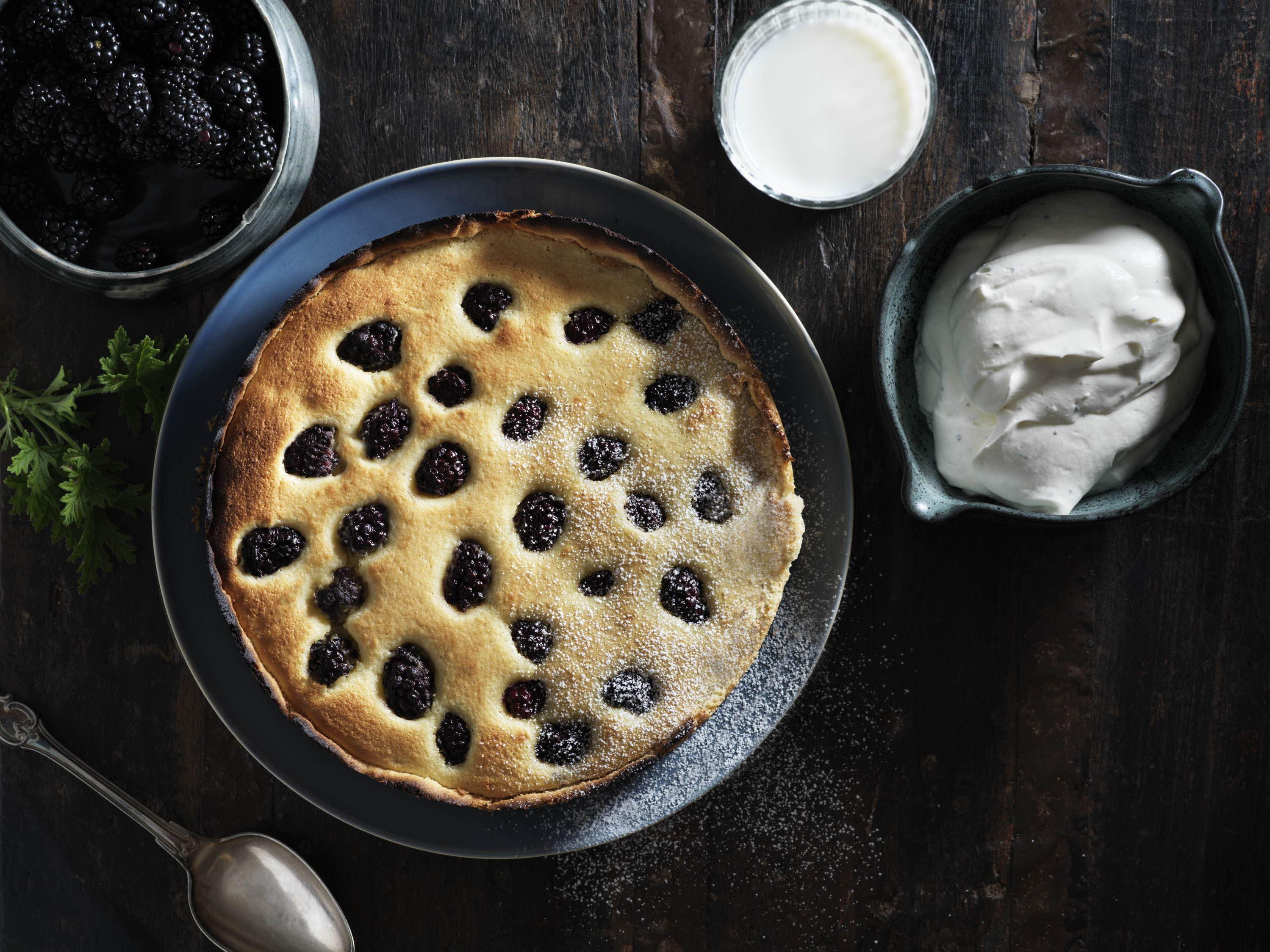 Brombærmazarintærte