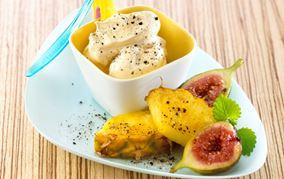 Smørstegte figner og ananas med lakrids