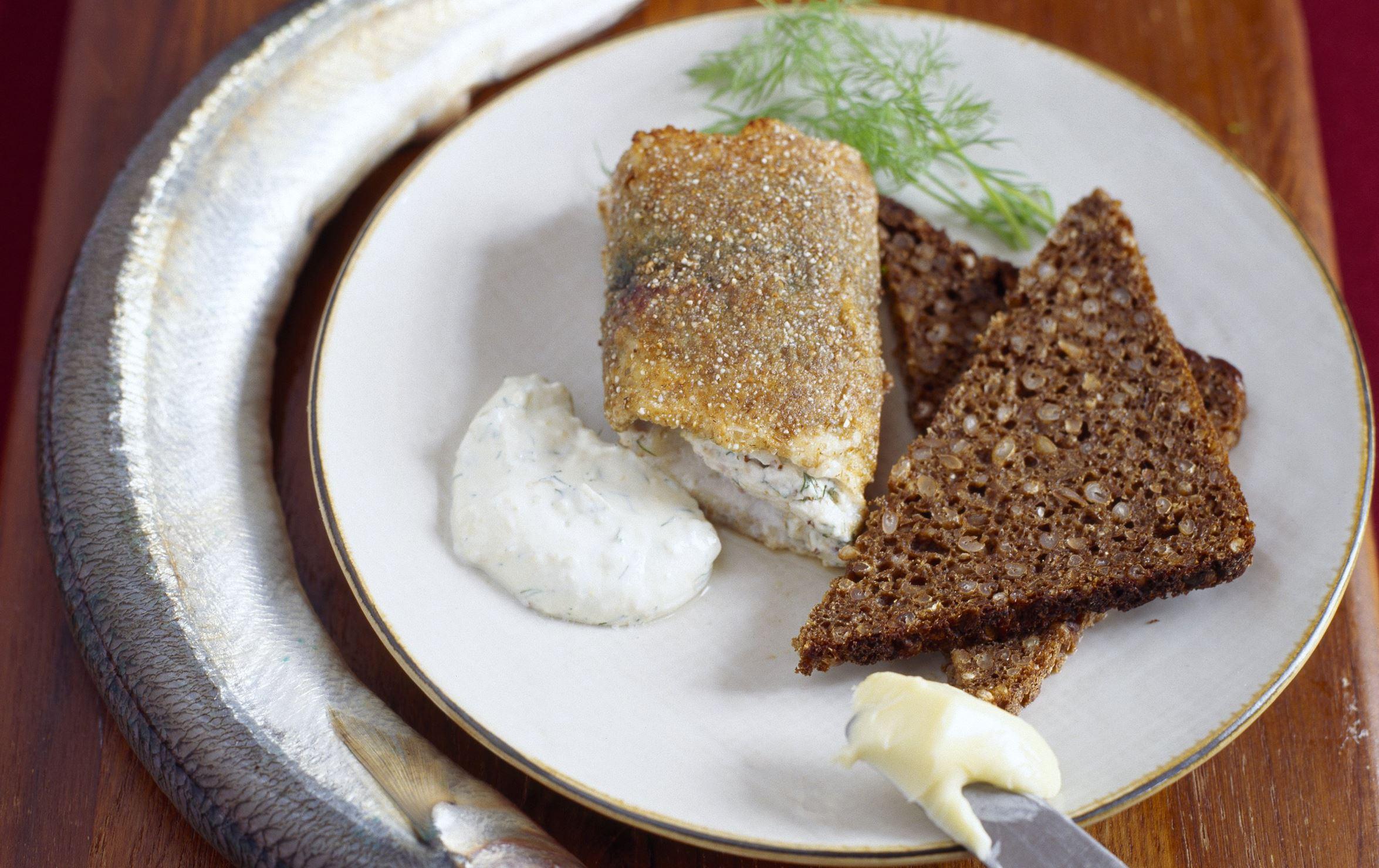 Hornfisk med dildcremefraiche