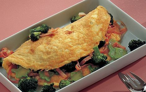 Omelet med broccoli