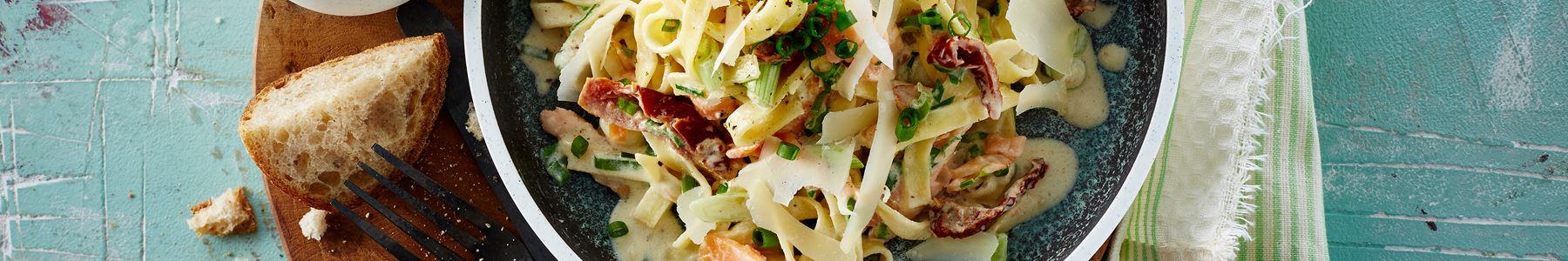 Fisk og skaldyr + Pasta