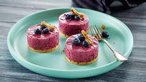 Cheesecake iskager med blåbær